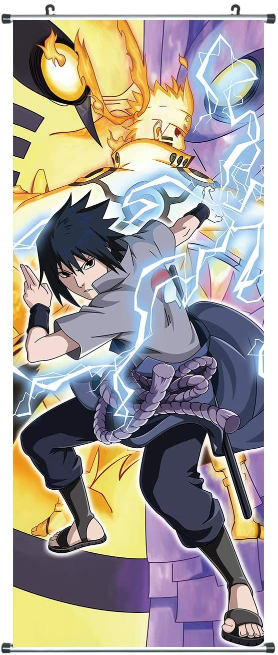 Naru Rollbild aus Stoff Poster Kakemono Uzumaki Sasuke Itachi Akatsuki 100x40cm