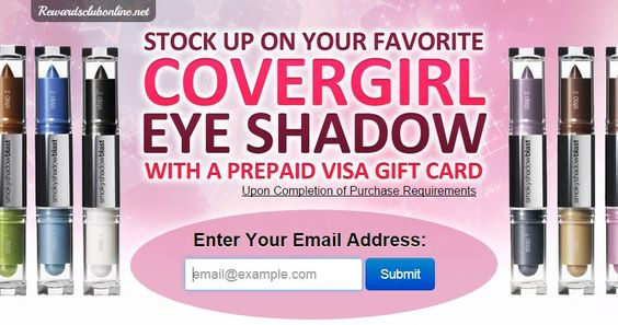 13Apr2015 Claim Your Covergirl Eye Shadow With Prepaid Visa Gift Card categories: Beauty, Give Aways, Prepaid Visa Cards