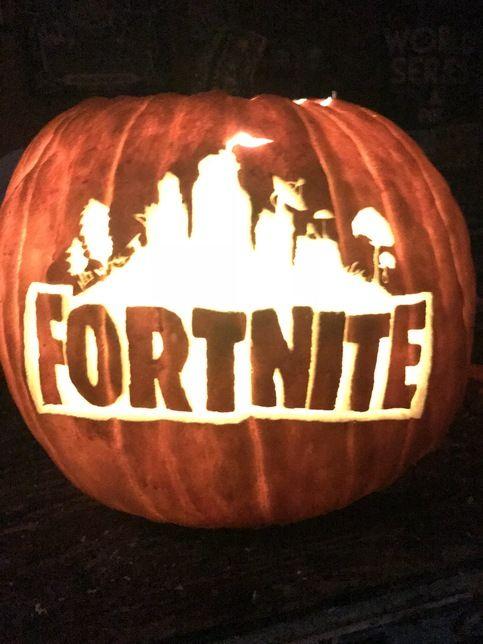 pumpkin template fortnite  Fortnite Logo in 6   Halloween pumpkin stencils, Pumpkin ...