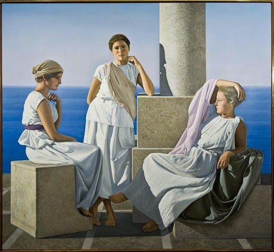 David Ligare -3 donne antica grecia