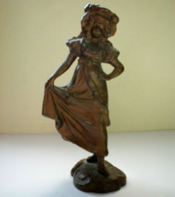 Metal Paper Weight / Curio - Girl from Germany