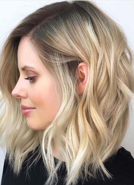 21 Awesome Blond Hair Colors With Dark Roots For Medium Length Haircuts Medium Hair Styles Blonde Hair With Roots Short Blonde Hair