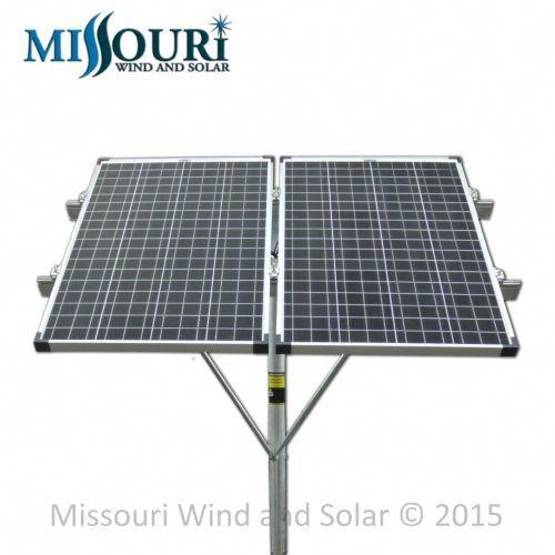 Double 100 Watt Solar Panel Top Of Pole Mounting Rack Missouri Wind And Solar 100 Watt Solar Panel Solar Solar Panels