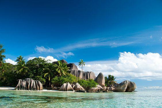 Isla La Digue, la cuarta isla más grande de las islas Seychelles.: