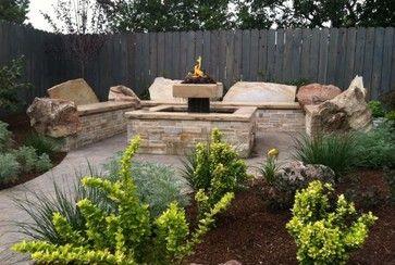 Rock garden patio