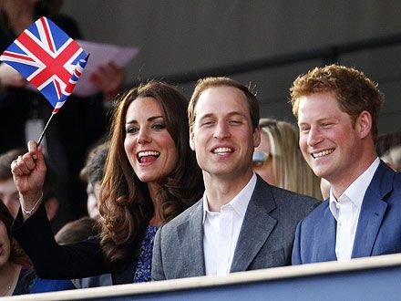 William & Kate Hang with Harry at the Diamond Jubilee Pop Concert