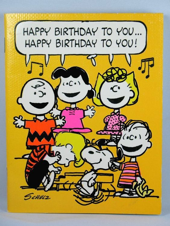 Peanuts Birthday Singing Cards Snoopy Birthday Snoopy Quotes Happy Birthday Images