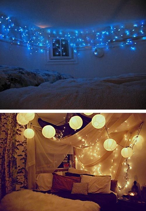 Bedroom Decorating with Christmas Lights | Christmas lights, Dark and Lights