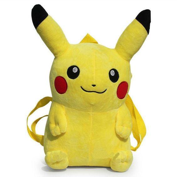 Pikachu Plush Backpack: