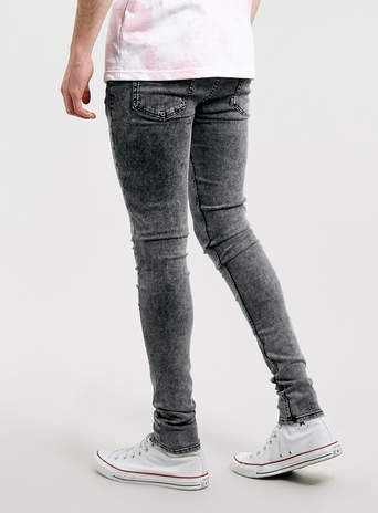 Black Acid Wash Super Spray On Skinny jeans - Spray On Skinny ...