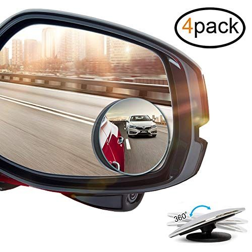 Mr Zz Blind Spot Mirrors 2 Inch Round Hd Frameless Glass Adjustable Stick On Design Convex Rear View Mirror O Blind Spot Mirrors Rear View Mirror Side Mirror