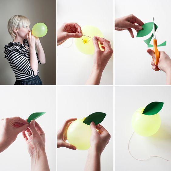 Fruit Balloons DIY