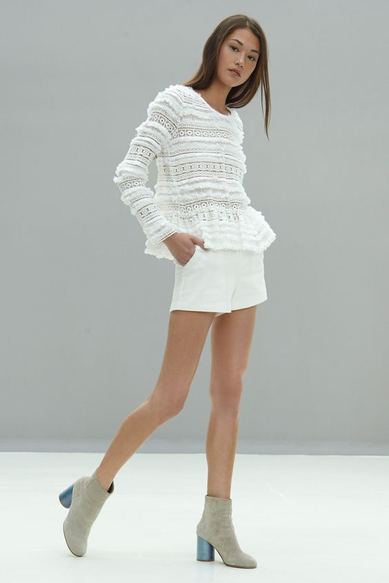 Kye Long Sleeve Fringed Lace Blouse on @nordstrom_rack