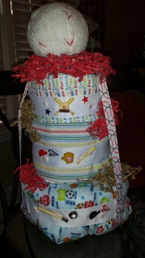 Baby shower ideas Sports diaper cake