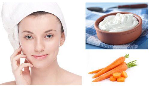 Tắm trắng da trắng sáng với cà rốt và sữa chua
