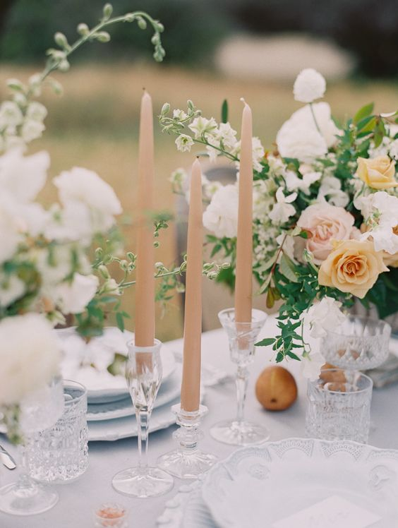 La Tavola Fine Linen Rental: Topaz Fog | Photography: Carmen Santorelli, Floral Design: Plenty Of Petals, Event Planning + Design: Meadowsweet Events: