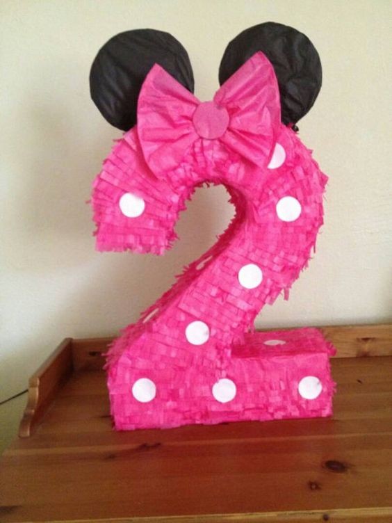 Hey, I found this really awesome Etsy listing at https://www.etsy.com/listing/161219915/pinata-number-2-minnie-mouse-inspiration