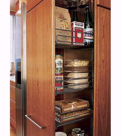 Kitchen Storage | Efficient Galley Style Kitchen Remodel Ideas | Kitchen Installation