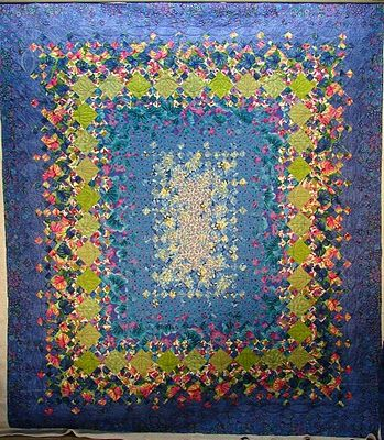 """""""Another blooming 9-patch"""" by Candy at Quilt Vine"""