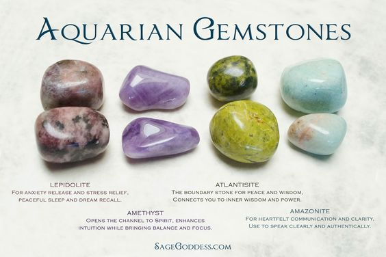 The perfect gift for you or the #Aquarius in your life - an Astrological Set for honoring Aquarius! Aquarian gemstones and all their meanings.: