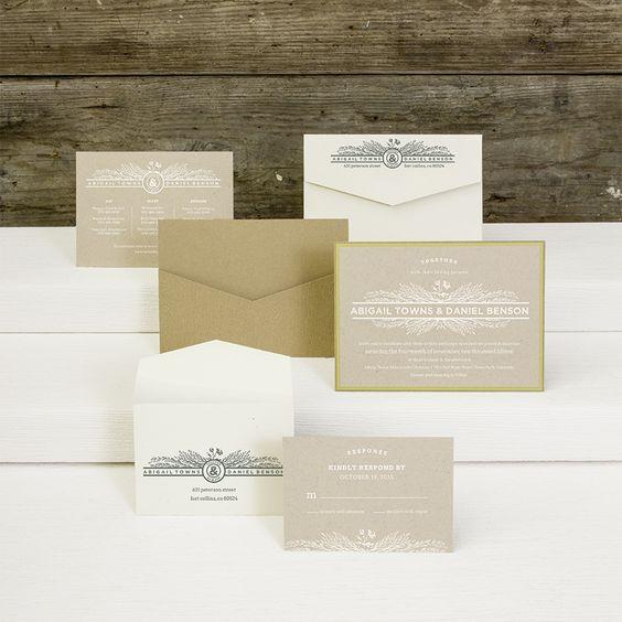 RUSTIKAL – EXKLUSIVE EINLADUNGS- und/oder HOCHZEITSKARTE Farben: Creme-Weiß, Braun in Holz-Optik und Olv-Grün mit Blumen-Blätter-Muster, Papier: matt gestrichenes Feinstpapier mit Faser-Optik, Format: 18,5 x 13,2 cm (BxH Querformat), Zubehör: Briefumschlag, zusätzliche Info-Karte, Antwort-Karte mit passendem Umschlag (auch in anderen Farb- und Papiervarianten erhältlich)