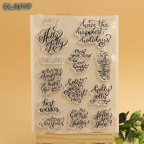 Merry Christmas Transparent Clear Silicone Stamp//Seal Scrapbooking Album Decors