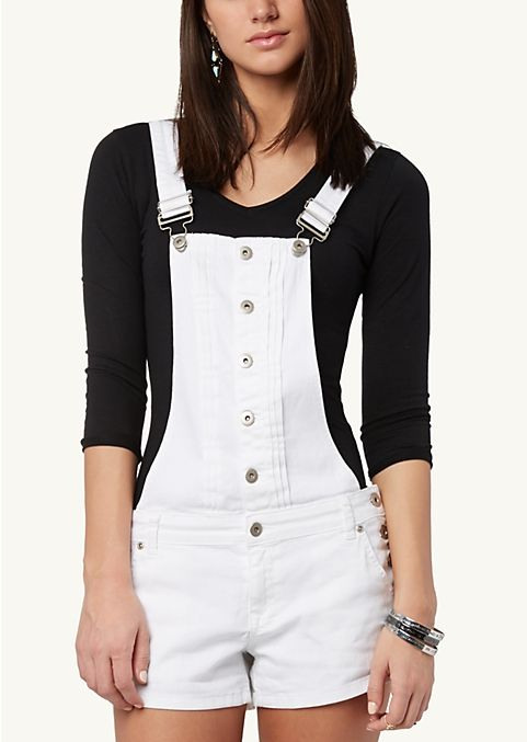 Front Button Overall Shorts | Shorts | rue21