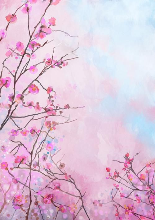 Photo Backdrop Photography Backdrops Vinyl Photography Backdrops Alternative Backdrops Sakura Painting Watercolor Flowers Paintings Painting