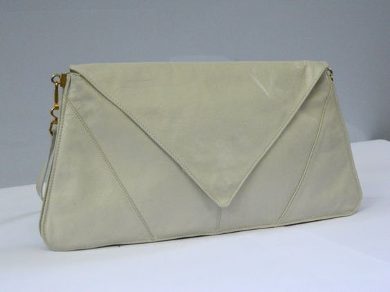 Vintage 1970s 'Le Sac' dove grey leather by TheCrownStProject, $55.00