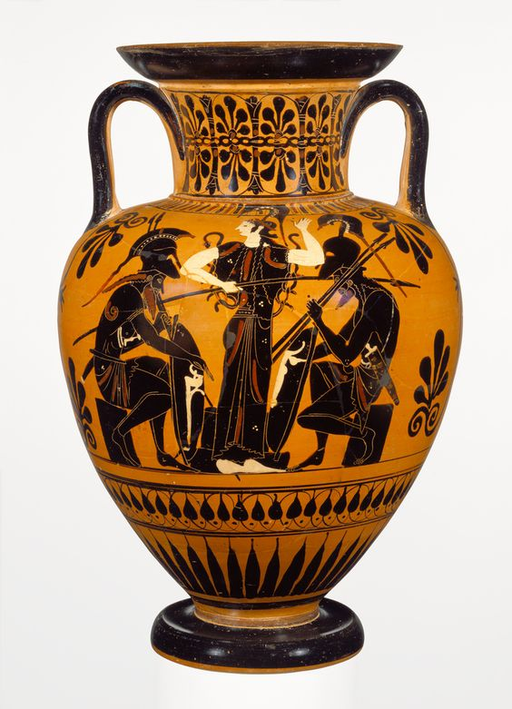 Attic Black-Figure Neck Amphora; Attributed to Leagros Group (Greek (Attic), active 525 - 500 B.C.); Athens, Greece, Europe; about 510 B.C.; Terracotta; 30.4 × 45.3 cm (11 15/16 × 17 13/16 in.); 86.AE.81; J. Paul Getty Museum, Los Angeles, California