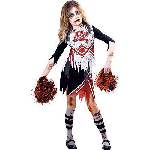 Quatang Gallery- Deguisement Amscan Enfant Fille Pom Pom Girl Zombie Halloween Zombie Halloween Pom Pom Girl Deguisement Enfant