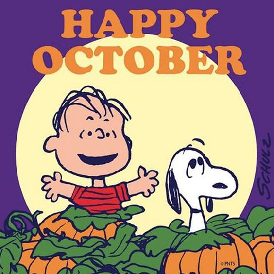 Image result for hello october clipart snoopy