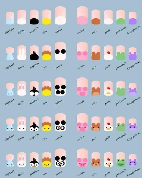 Step-by-step animal nail art guide