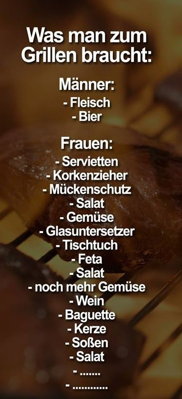 #grillen #männer vs. frauen