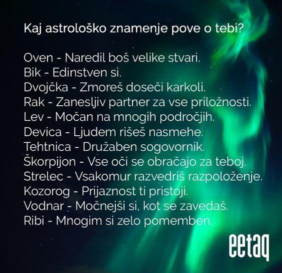 Kaj astrološko znamenje pove o tebi?