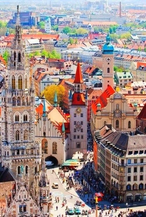 Colorful Munich, Germany - #Explore this destination and have a look! Come to our ECrent online rental platform: www.ecrent.com to #rent a tour guide. Have a look first!