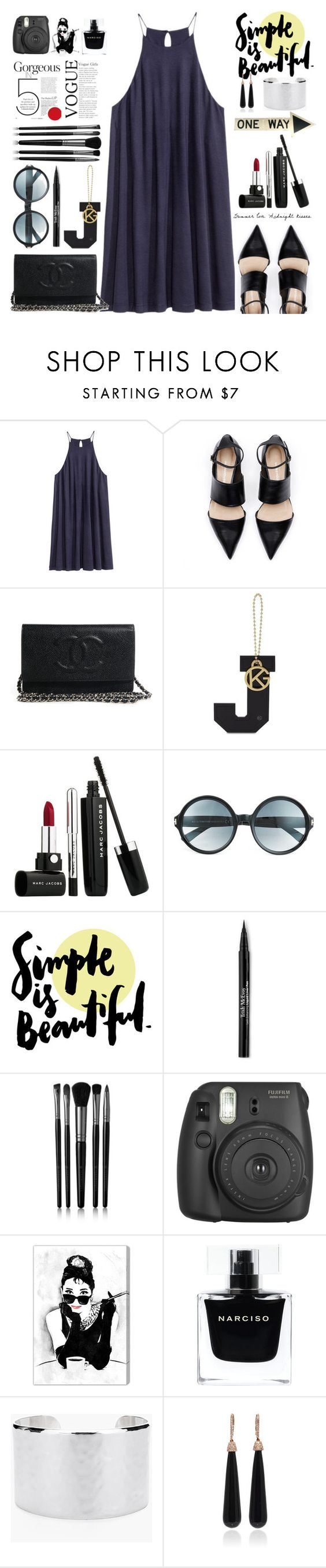 """""""Summer date"""" by jan31 ❤ liked on Polyvore featuring Kurt Geiger, Marc Jacobs, Tom Ford, Trish McEvoy, Illamasqua, Oliver Gal Artist Co., Narciso Rodriguez, Chico's and SUSAN FOSTER"""