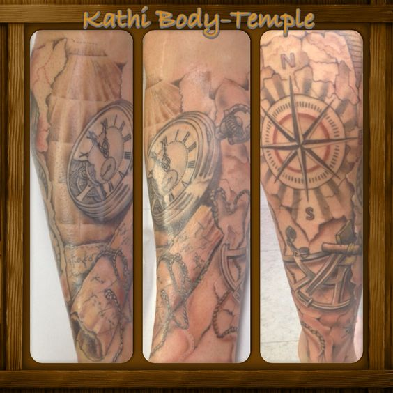 kompass tattoo seekarte body temple potsdam pinterest tattoos and body art. Black Bedroom Furniture Sets. Home Design Ideas