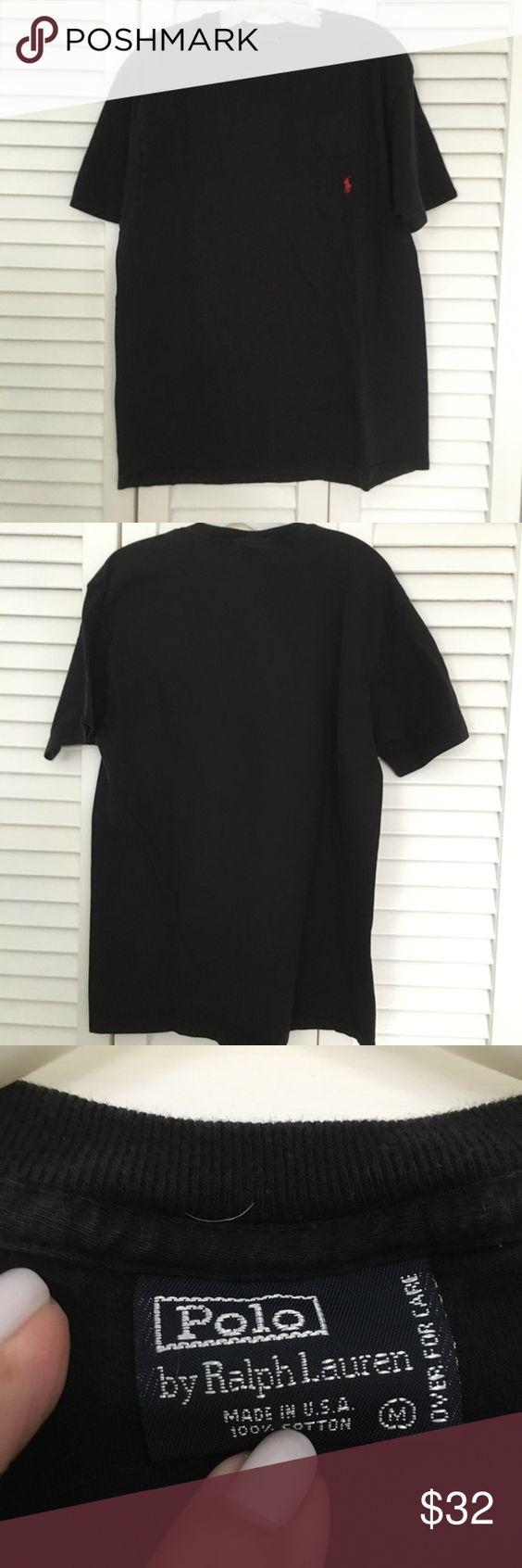 Men's polo Ralph Lauren tee Mens Ralph Lauren Polo tee shirt with pocket. Color Black Size M Polo by Ralph Lauren Shirts Tees - Short Sleeve