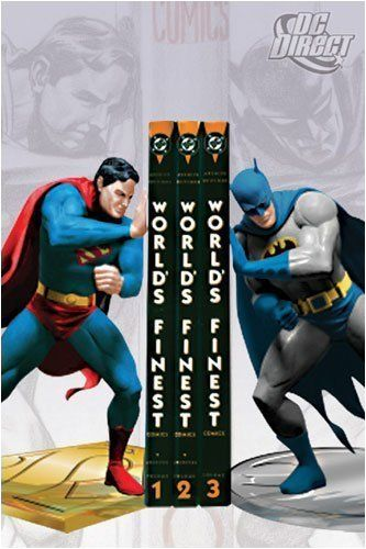Superman and Batman have your back when it comes to holding your books in place!