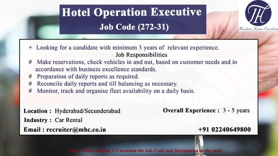 We are looking for an experienced candidate for the position of - hospitality resume