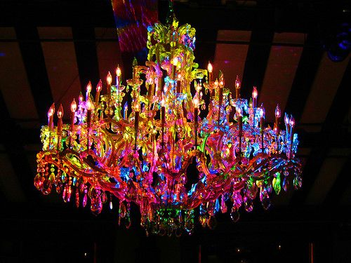 Rainbow Crystal Chandelier
