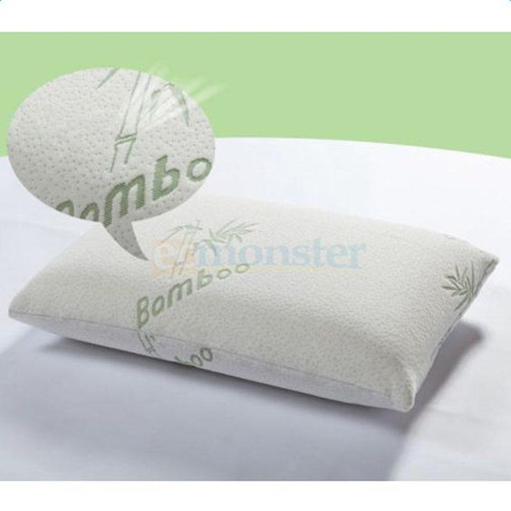 Hotel Comfort Hypoallergenic Bamboo Shredded Memory Foam Pillow With Carry Bag