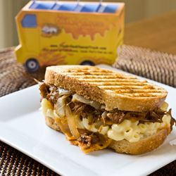 Grilled Mac & Cheese with BBQ Pulled Pork...a panini grill version of ...
