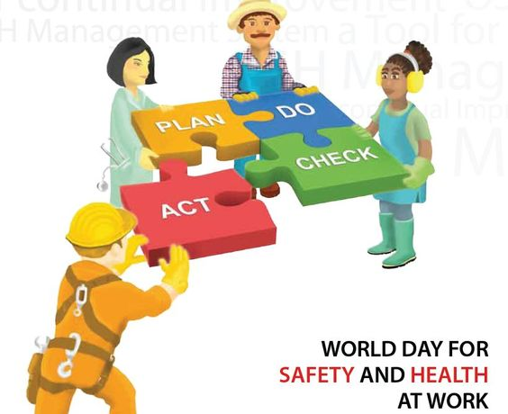 World days, Safety and Health on Pinterest