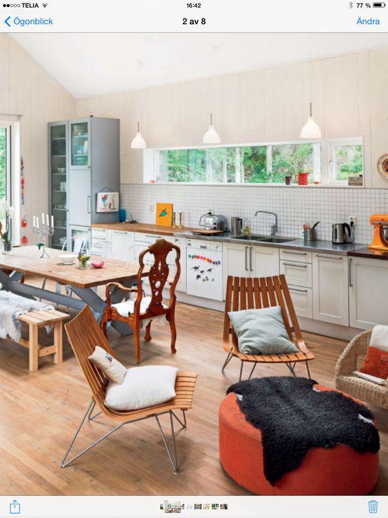 Kök/vardagsrum | Olles hus | Pinterest