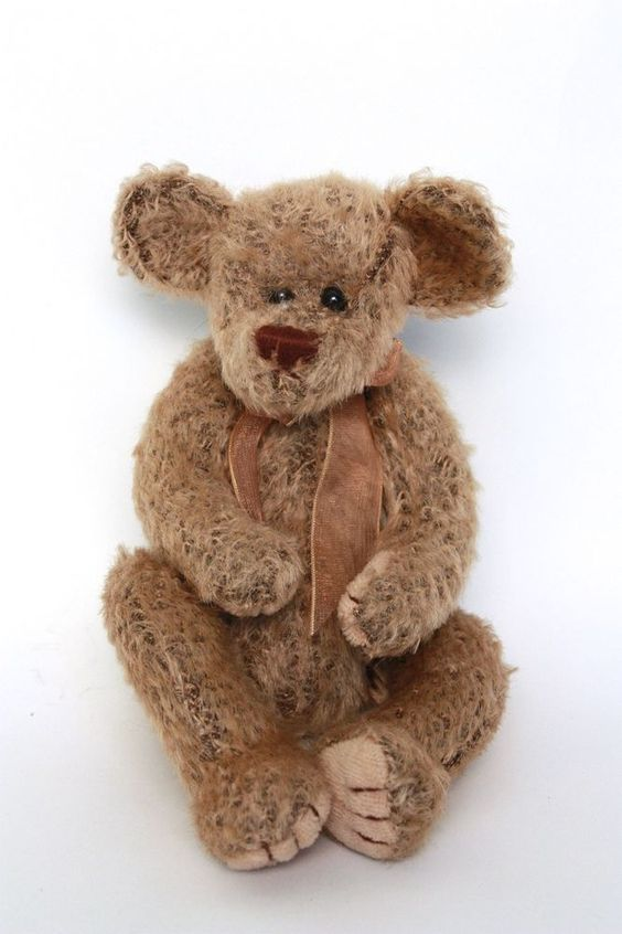 Vintage Ty Attic Treasures Collectable Fuzzy Teddy Bear - 1993 #Ty