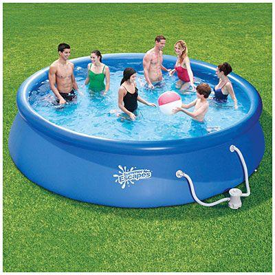 Summer escapes 14 39 x 36 quick set pool at big lots sku for Obi fast set pool