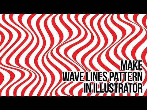 How To Create Line Waves Pattern In Adobe Illustrator Deep Tuts Illustration Halftone Pattern Wave Pattern