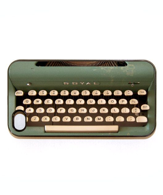 iphone 4 case vintage typewriter by wallsparks on Etsy, $18.99